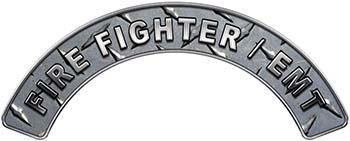EMT Fire Fighter, EMS, Rescue Helmet Arc / Rockers Decal Reflective in Diamond Plate