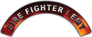 EMT Fire Fighter, EMS, Rescue Helmet Arc / Rockers Decal Reflective in Real Fire