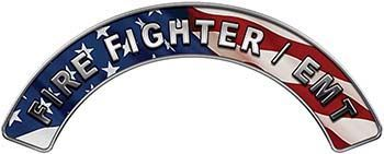 EMT Fire Fighter, EMS, Rescue Helmet Arc / Rockers Decal Reflective With American Flag