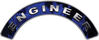 Engineer Fire Fighter, EMS, Rescue Helmet Arc / Rockers Decal Reflective In Inferno Blue Real Flames