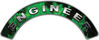 Engineer Fire Fighter, EMS, Rescue Helmet Arc / Rockers Decal Reflective In Inferno Green Real Flames