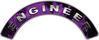 Engineer Fire Fighter, EMS, Rescue Helmet Arc / Rockers Decal Reflective In Inferno Purple Real Flames