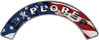 Explorer Fire Fighter, EMS, Rescue Helmet Arc / Rockers Decal Reflective With American Flag