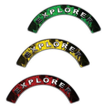 Reflective Firefighter Explorer Crescent Fire Helmet Decals