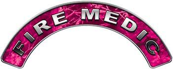 Fire Medic Fire Fighter, EMS, Rescue Helmet Arc / Rockers Decal Reflective in Pink Camo