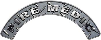 Fire Medic Fire Fighter, EMS, Rescue Helmet Arc / Rockers Decal Reflective in Diamond Plate