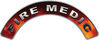 Fire Medic Fire Fighter, EMS, Rescue Helmet Arc / Rockers Decal Reflective in Real Fire