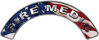 Fire Medic Fire Fighter, EMS, Rescue Helmet Arc / Rockers Decal Reflective With American Flag
