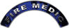 Fire Medic Fire Fighter, EMS, Rescue Helmet Arc / Rockers Decal Reflective In Inferno Blue Real Flames
