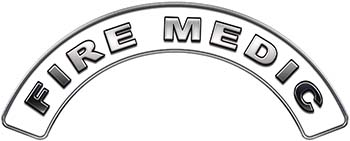 Fire Medic Fire Fighter, EMS, Rescue Helmet Arc / Rockers Decal Reflective in White