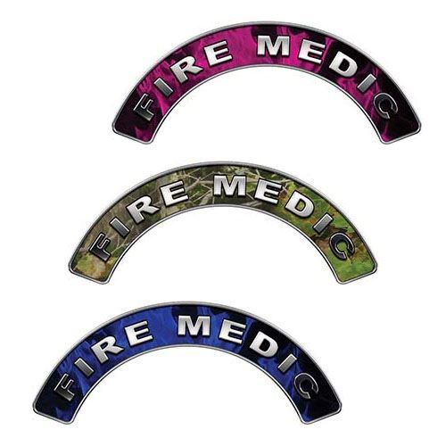 Reflective Fire Medic Crescent Fire Helmet Decals
