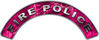 Fire Police Fire Fighter, EMS, Rescue Helmet Arc / Rockers Decal Reflective in Pink Camo