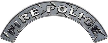 Fire Police Fire Fighter, EMS, Rescue Helmet Arc / Rockers Decal Reflective in Diamond Plate