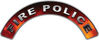 Fire Police Fire Fighter, EMS, Rescue Helmet Arc / Rockers Decal Reflective in Real Fire