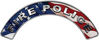 Fire Police Fire Fighter, EMS, Rescue Helmet Arc / Rockers Decal Reflective With American Flag