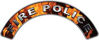 Fire Police Fire Fighter, EMS, Rescue Helmet Arc / Rockers Decal Reflective In Inferno Real Flames