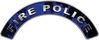 Fire Police Fire Fighter, EMS, Rescue Helmet Arc / Rockers Decal Reflective In Inferno Blue Real Flames