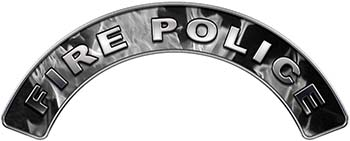 Fire Police Fire Fighter, EMS, Rescue Helmet Arc / Rockers Decal Reflective In Inferno Gray Real Flames