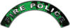 Fire Police Fire Fighter, EMS, Rescue Helmet Arc / Rockers Decal Reflective In Inferno Green Real Flames