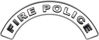 Fire Police Fire Fighter, EMS, Rescue Helmet Arc / Rockers Decal Reflective in White