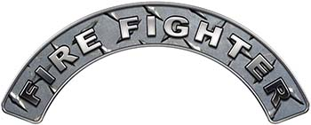 Firefighter Fire Fighter, EMS, Rescue Helmet Arc / Rockers Decal Reflective in Diamond Plate