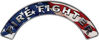 Firefighter Fire Fighter, EMS, Rescue Helmet Arc / Rockers Decal Reflective With American Flag
