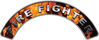 Firefighter Fire Fighter, EMS, Rescue Helmet Arc / Rockers Decal Reflective In Inferno Real Flames