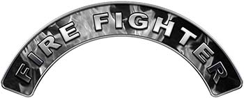 Firefighter Fire Fighter, EMS, Rescue Helmet Arc / Rockers Decal Reflective In Inferno Gray Real Flames