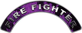 Firefighter Fire Fighter, EMS, Rescue Helmet Arc / Rockers Decal Reflective In Inferno Purple Real Flames