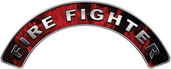 Firefighter Fire Fighter, EMS, Rescue Helmet Arc / Rockers Decal Reflective In Inferno Red Real Flames
