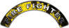 Firefighter Fire Fighter, EMS, Rescue Helmet Arc / Rockers Decal Reflective In Inferno Yellow Real Flames