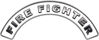 Firefighter Fire Fighter, EMS, Rescue Helmet Arc / Rockers Decal Reflective in White