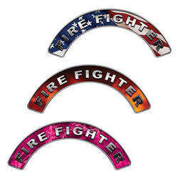 Reflective Firefighter Crescent Fire Helmet Decals