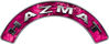 Hazmat Fire Fighter, EMS, Rescue Helmet Arc / Rockers Decal Reflective in Pink Camo