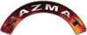 Hazmat Fire Fighter, EMS, Rescue Helmet Arc / Rockers Decal Reflective in Real Fire
