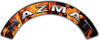 Hazmat Fire Fighter, EMS, Rescue Helmet Arc / Rockers Decal Reflective In Inferno Real Flames
