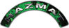 Hazmat Fire Fighter, EMS, Rescue Helmet Arc / Rockers Decal Reflective In Inferno Green Real Flames