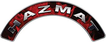 Hazmat Fire Fighter, EMS, Rescue Helmet Arc / Rockers Decal Reflective In Inferno Red Real Flames