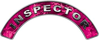 Inspector Fire Fighter, EMS, Rescue Helmet Arc / Rockers Decal Reflective in Pink Camo