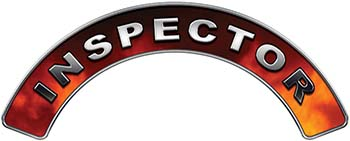 Inspector Fire Fighter, EMS, Rescue Helmet Arc / Rockers Decal Reflective in Real Fire