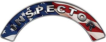 Inspector Fire Fighter, EMS, Rescue Helmet Arc / Rockers Decal Reflective With American Flag