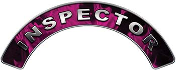 Inspector Fire Fighter, EMS, Rescue Helmet Arc / Rockers Decal Reflective In Inferno Pink Real Flames