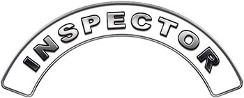 Inspector Fire Fighter, EMS, Rescue Helmet Arc / Rockers Decal Reflective in White