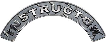 Instructor Fire Fighter, EMS, Rescue Helmet Arc / Rockers Decal Reflective in Diamond Plate