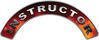 Instructor Fire Fighter, EMS, Rescue Helmet Arc / Rockers Decal Reflective in Real Fire