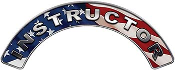Instructor Fire Fighter, EMS, Rescue Helmet Arc / Rockers Decal Reflective With American Flag