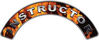 Instructor Fire Fighter, EMS, Rescue Helmet Arc / Rockers Decal Reflective In Inferno Real Flames