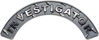 Investigator Fire Fighter, EMS, Rescue Helmet Arc / Rockers Decal Reflective in Diamond Plate