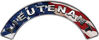 Lieutenant Fire Fighter, EMS, Rescue Helmet Arc / Rockers Decal Reflective With American Flag