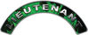 Lieutenant Fire Fighter, EMS, Rescue Helmet Arc / Rockers Decal Reflective In Inferno Green Real Flames